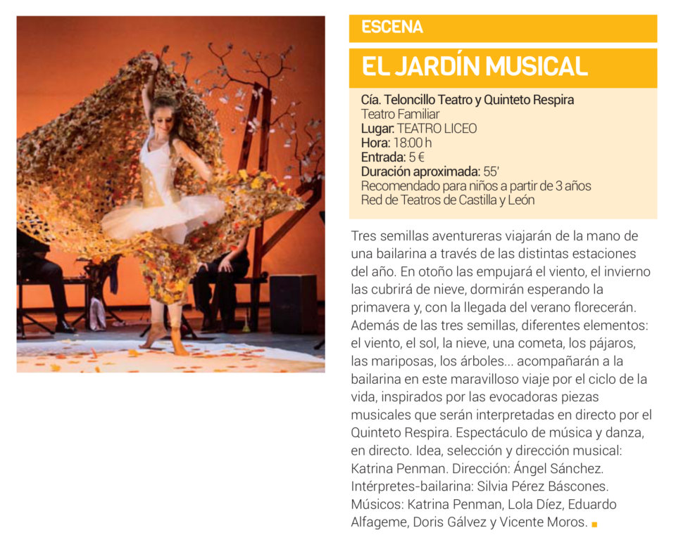 Teatro Liceo El jardín musical Salamanca Diciembre 2018
