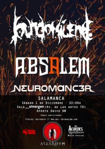 Espacio Almargen Sound of Silence + Absalem + Neuromanc3r Salamanca Diciembre 2018
