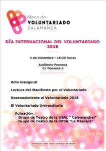 Hospedería Fonseca Día Internacional del Voluntariado Salamanca Diciembre 2018