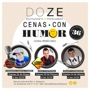 Resturante Doze Cenas con humor Salamanca Enero febrero marzo 2019