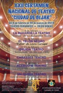 Teatro Cervantes XXII Certamen Nacional de Teatro Ciudad de Béjar Febrero marzo 2019