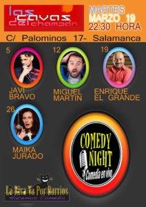 Las Cavas del Champán Comedy Night Salamanca Marzo 2019