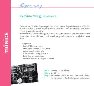 Torrente Ballester Flamingo Swing Salamanca Febrero 2019