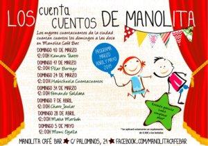 Manolita Café Bar Los cuentacuentos de Manolita Salamanca Marzo abril mayo 2019