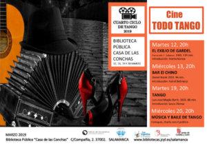 Casa de las Conchas IV Ciclo de Cine Todo Tango Salamanca Marzo 2019
