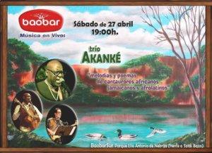 Baobar Trío Akanké Salamanca Abril 2019