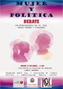 Facultad de Derecho Mujer y política Radio USAL Salamanca Abril 2019