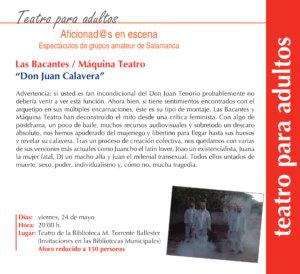Torrente Ballester Las Bacantes / Máquina Teatro Salamanca Mayo 2019