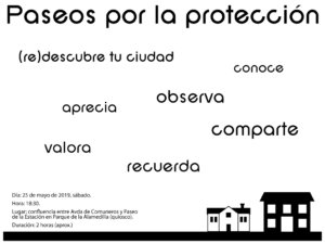 La Alamedilla Paseos por la protección Salamanca Mayo 2019