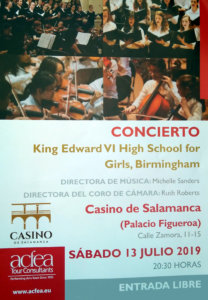 Casino de Salamanca King Edward VI High School for Girls Julio 2019