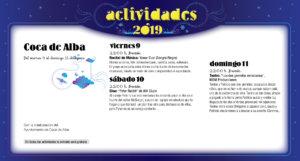 Coca de Alba Noches de Cultura Agosto 2019