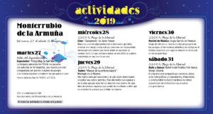 Monterrubio de Armuña Noches de Cultura Agosto 2019