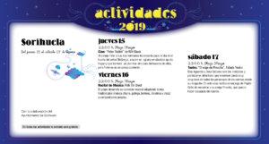 Sorihuela Noches de Cultura Agosto 2019