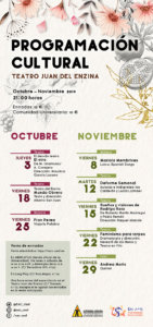 Universidad de Salamanca Programacion Cultural Octubre noviembre 2019