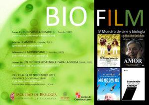 Filmoteca de Castilla y León IV Muestra de Cine y Biología Salamanca Noviembre 2019