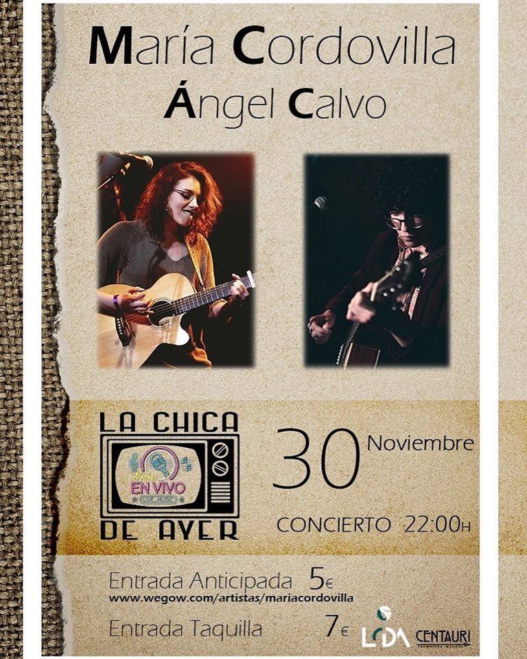 La Chica de Ayer María Cordovilla y Ángel Calvo Salamanca Noviembre 2019