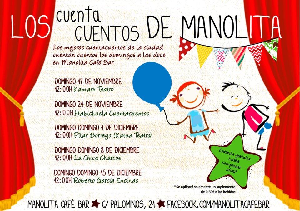 Manolita Café Bar Los cuentacuentos de Manolita Salamanca Noviembre diciembre 2019