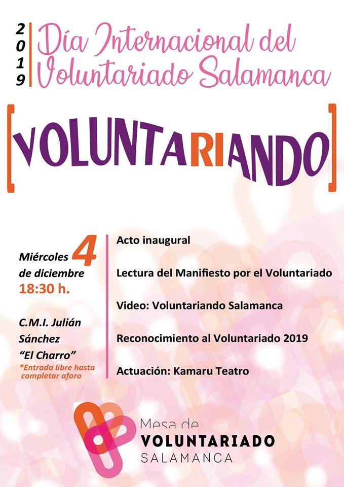 Julián Sánchez El Charro Día Internacional del Voluntariado Salamanca Diciembre 2019