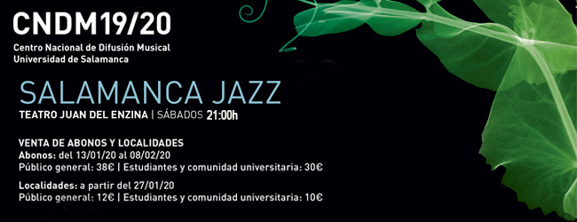 Aula Teatro Juan del Enzina Salamanca Jazz Febrero marzo 2020