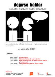 Casa de las Conchas Dejarse hablar Debates públicos en las Conchas Enero 2020 Salamanca