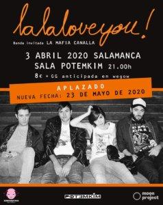 Potemkim La La Love You! Salamanca Mayo 2020