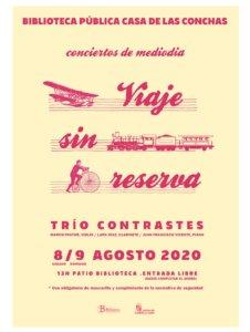 Casa de las Conchas Trío Contrastes Salamanca Agosto 2020