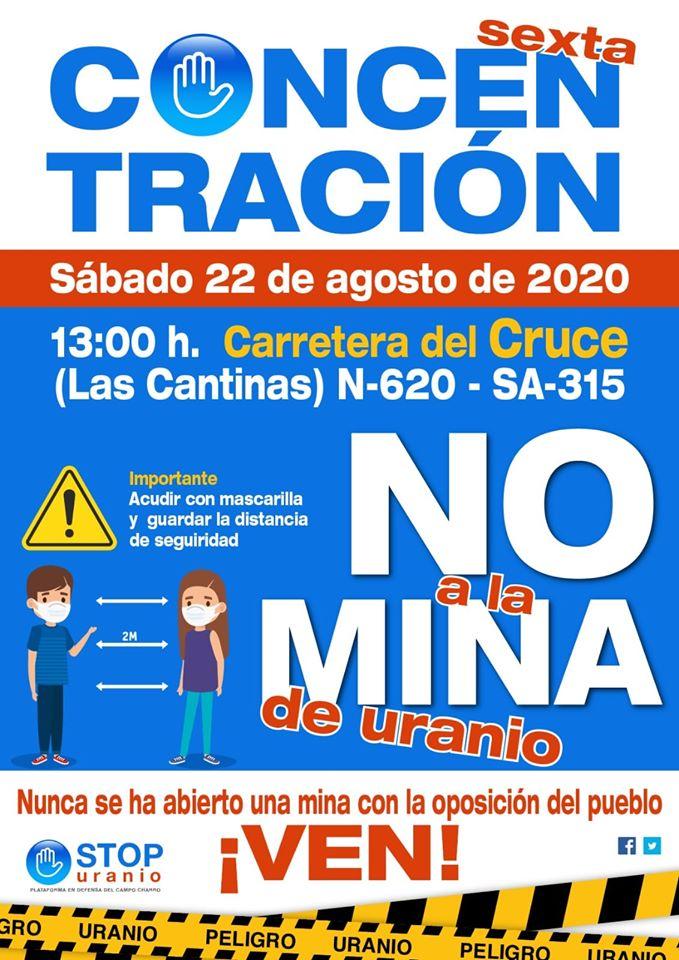 La Fuente de San Esteban VI Concentración Anual Stop Uranio Agosto 2020