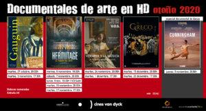Cines Van Dyck Documentales de Arte Salamanca Otoño 2020