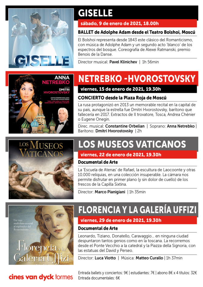 Cines Van Dyck Tormes Programación Cutural Enero Santa Marta de Tormes 2021