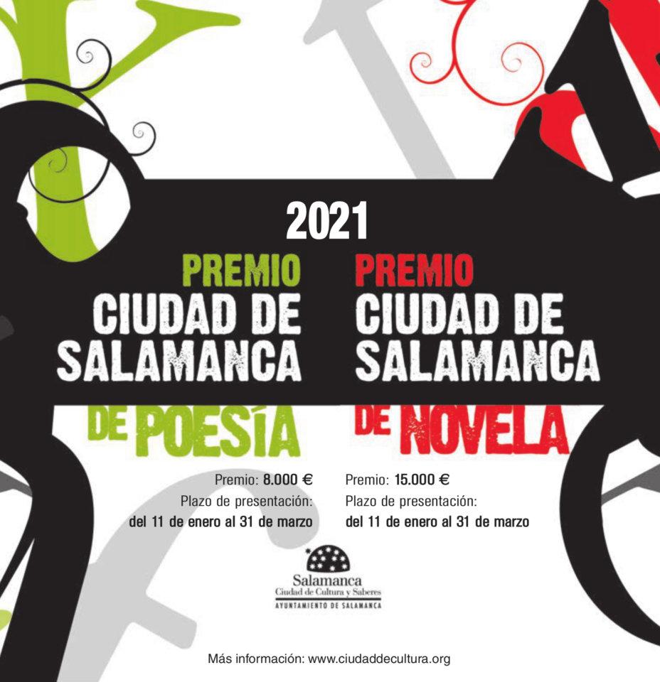 Convocados los Premios Ciudad de Salamanca de Poesía y de Novela 2021