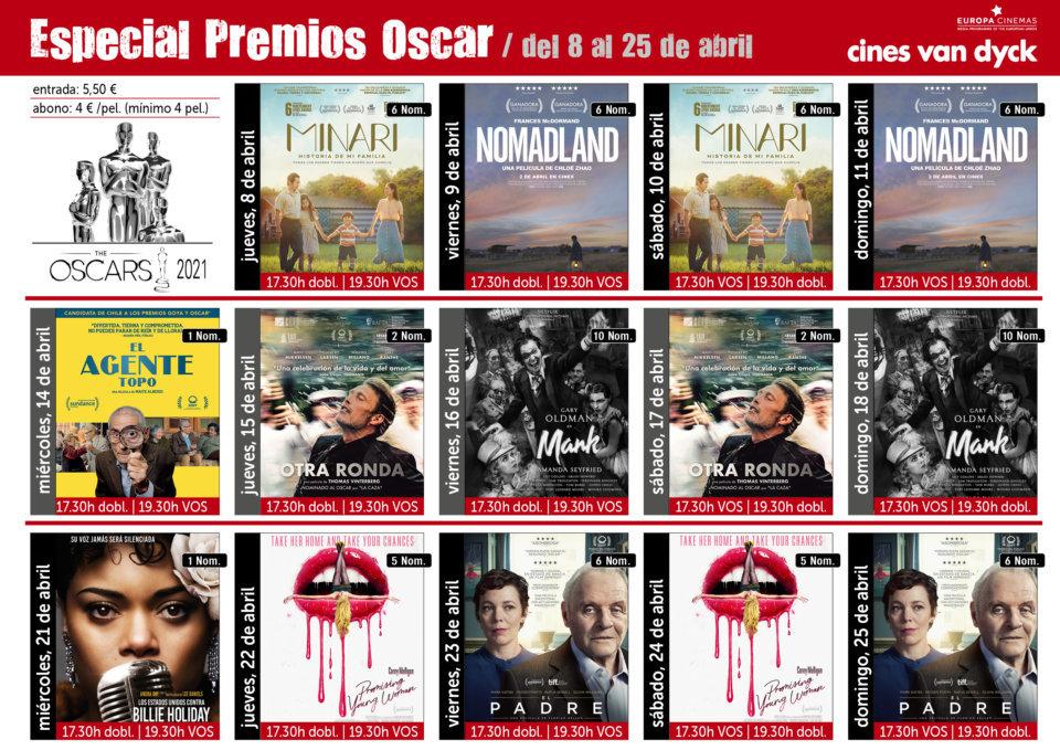 Cines Van Dyck Ciclo de Cine Especial Premios Oscar Salamanca Abril 2021