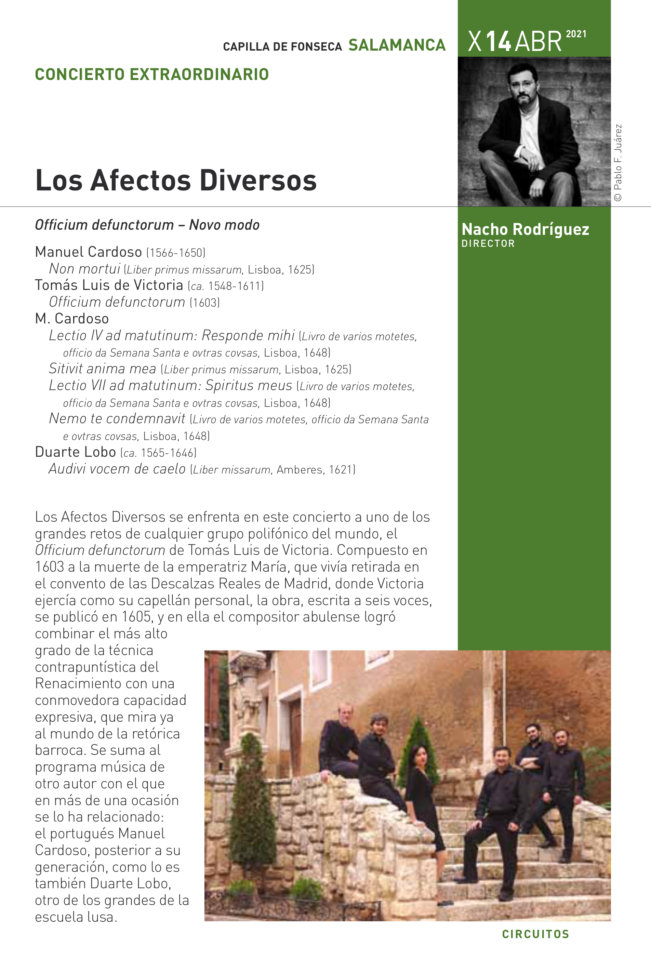 Colegio Arzobispo Fonseca Salamanca Barroca 2020-2021 Los afectos diversos Abril
