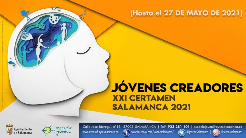 El Ayuntamiento de Salamanca convoca el XXI Certamen Jóvenes Creadores 2021
