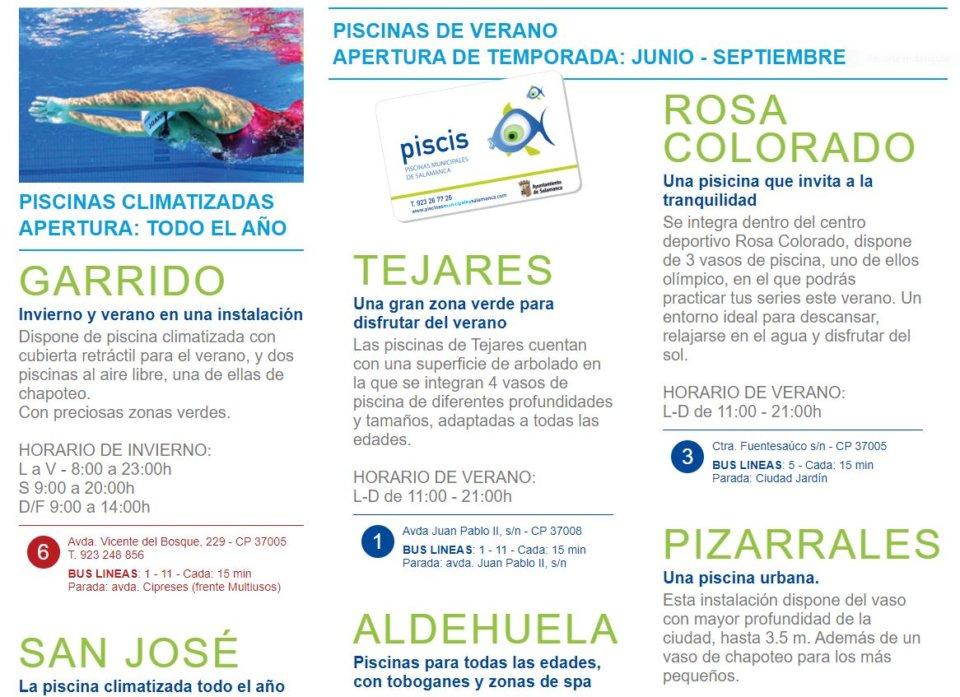 Salamanca Piscinas Municipales Verano 2021
