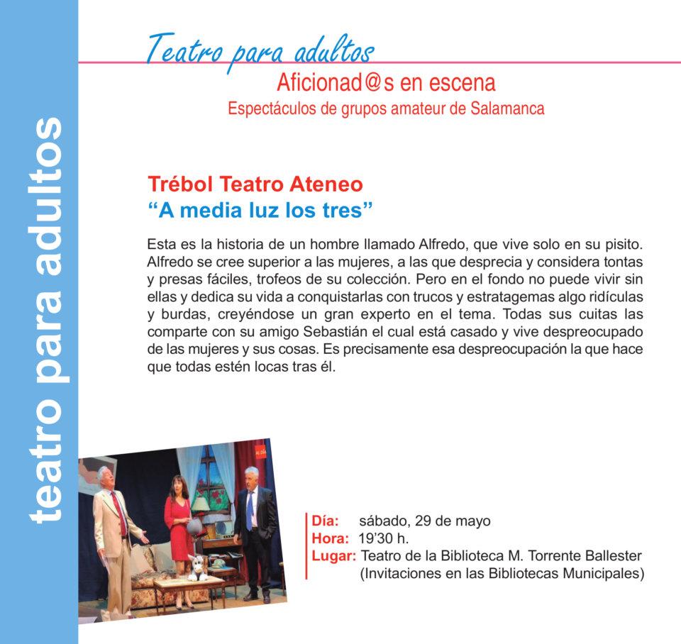 Torrente Ballester Trébol Teatro Ateneo Salamanca Mayo 2021